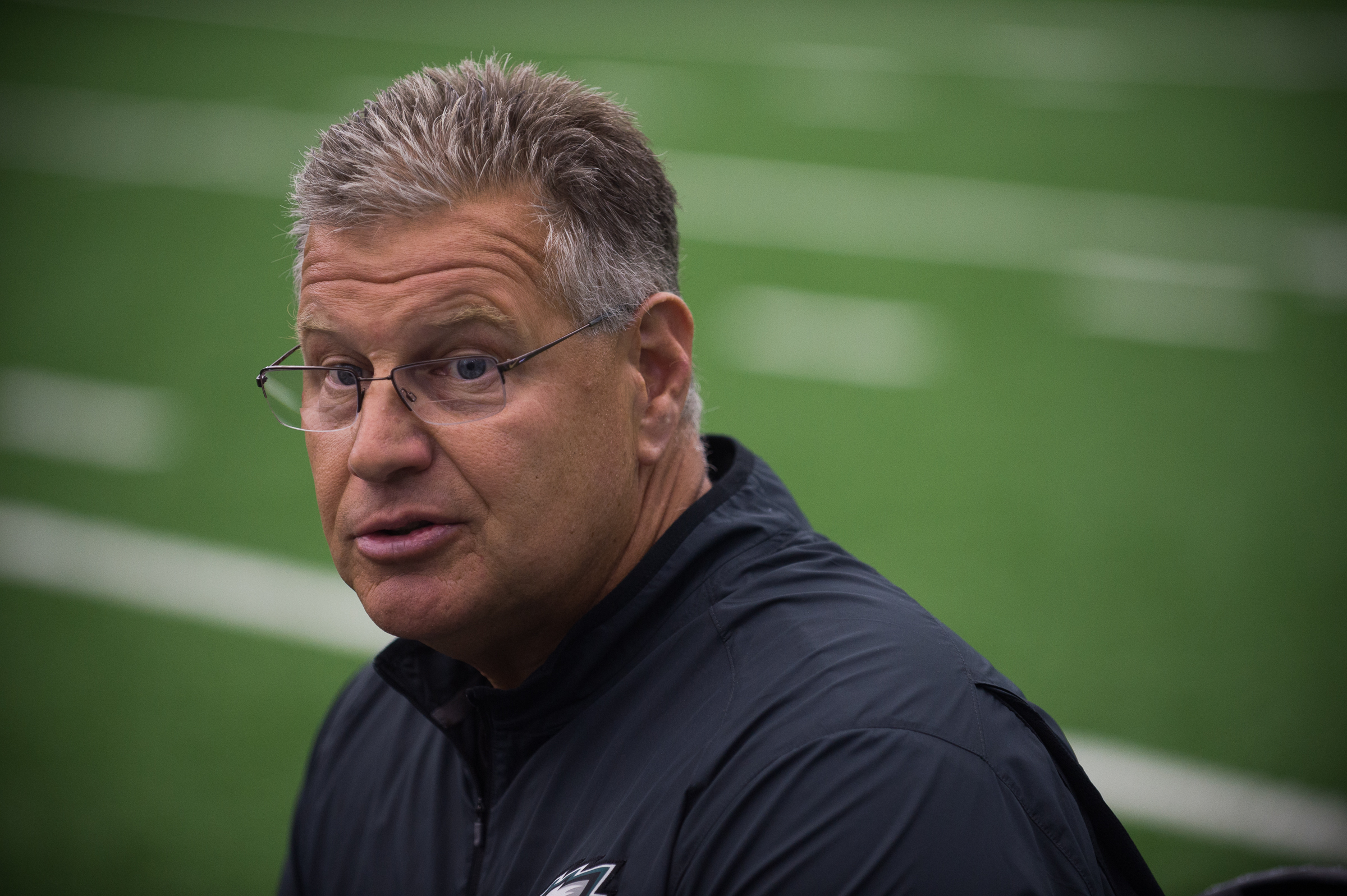 Eagles offensive-line coach Jeff Stoutland has coached Jason Peters for five years.