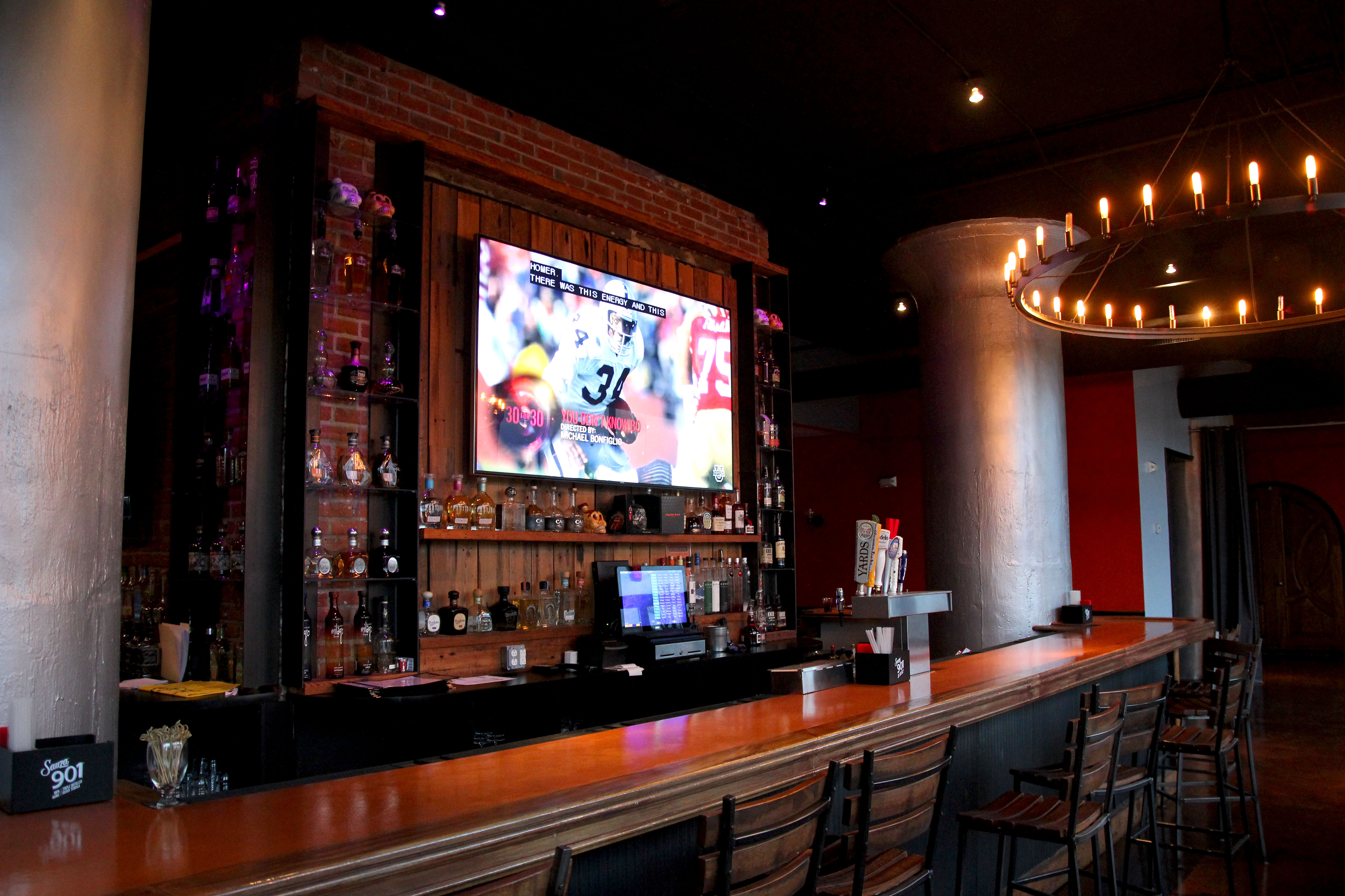 The main bar at Golf & Social, 1080 N. Delaware Ave.
