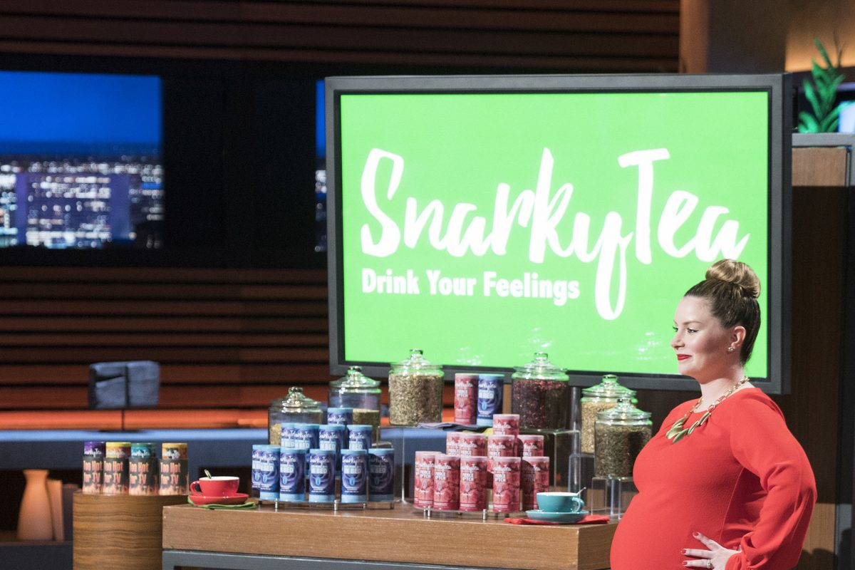 "Nearly eight months  pregnant when the episode taped, Northeast Philadelphia native and Villanova University MBA alumna Jenni-Lyn Williams was her swear-word-using self when she appeared on ABC's ""Shark Tank"" to pitch her Snarky Tea line of off-color-labeled flavors. The show aired Nov. 5."