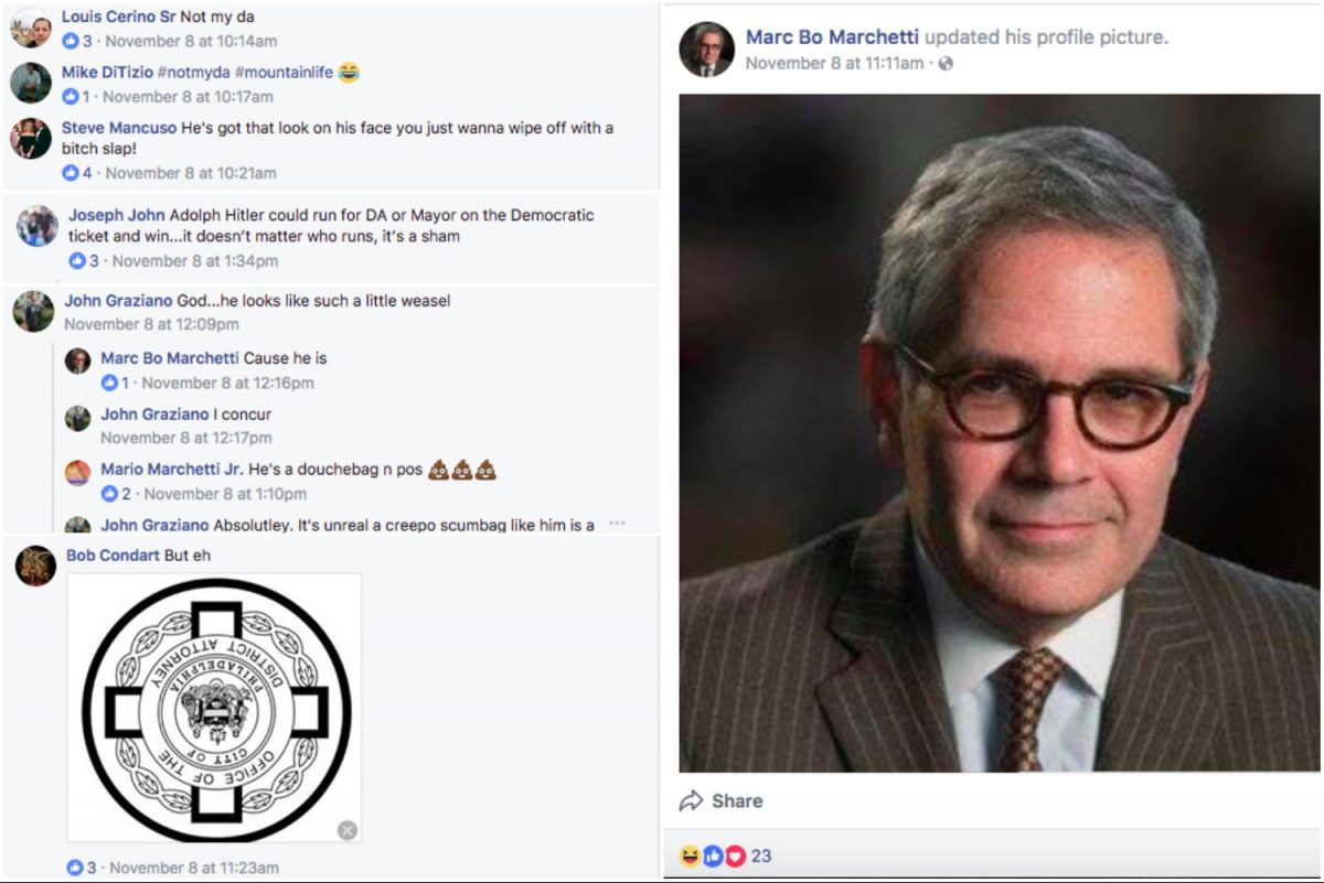 Officer Marc Marchetti's Facebook thread.