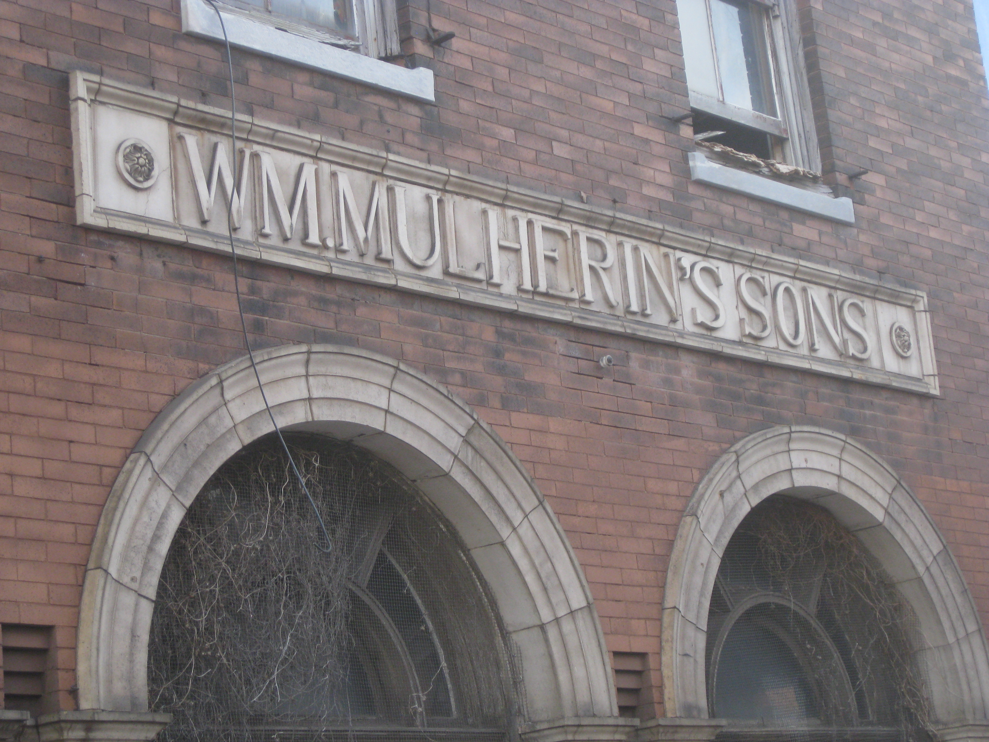 The long-vacant Wm. Mulherin´s Sons, 355 N Front St, Philadelphia, Pa. before it was refurbished in the mid-2010s.