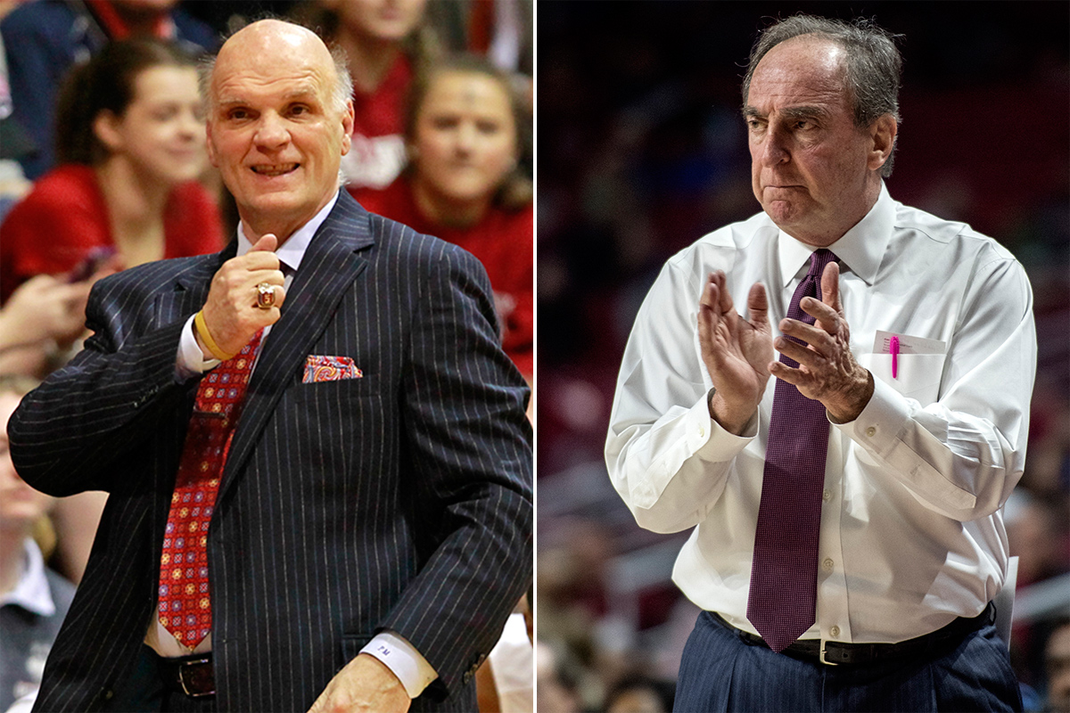 Phil Martelli (left) and Fran Dunphy.