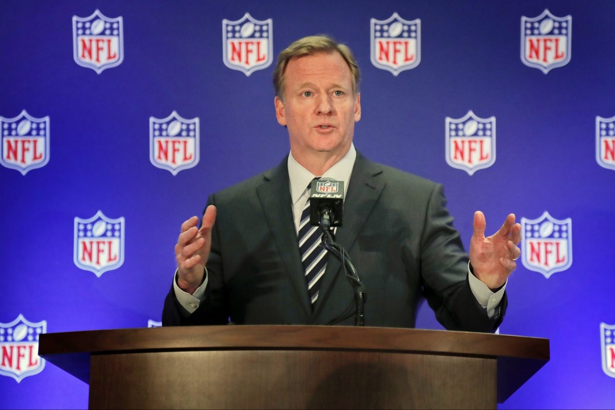 National Football League commissioner Roger Goodell.