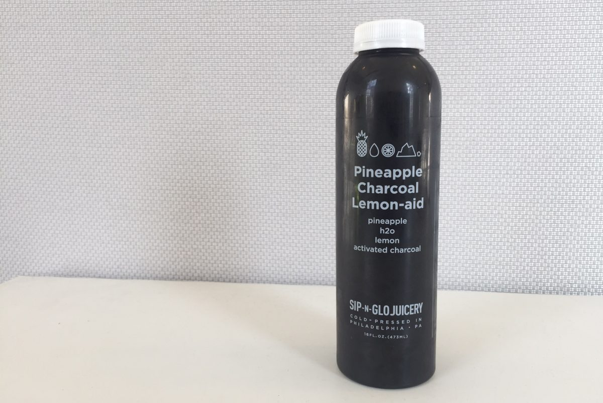 Pineapple charcoal lemon-aid from Sip-N-Glo.