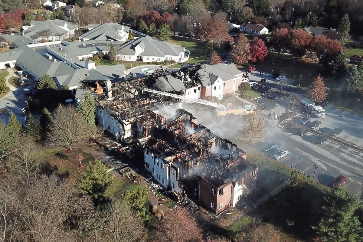 Fire ravaged a large nursing home complex, Barclay Friends Senior Living, in West Chester,  forcing the evacuation of more than 200 residents into 40-degree temperatures and sending an unknown number to area hospitals
