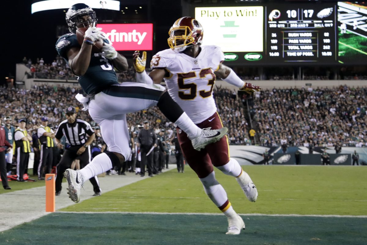 Corey Clement´s touchdown catch against the Redskins might be the play of the season so far for the Eagles.