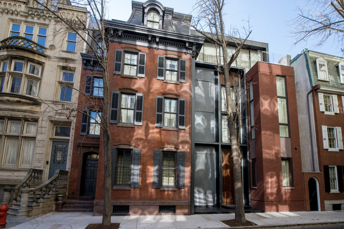 Bart Blatstein's new Rittenhouse Square home combines five house lots into an urban villa. It incorporates a historic Victorian that was once part of the McIlhenny mansion.
