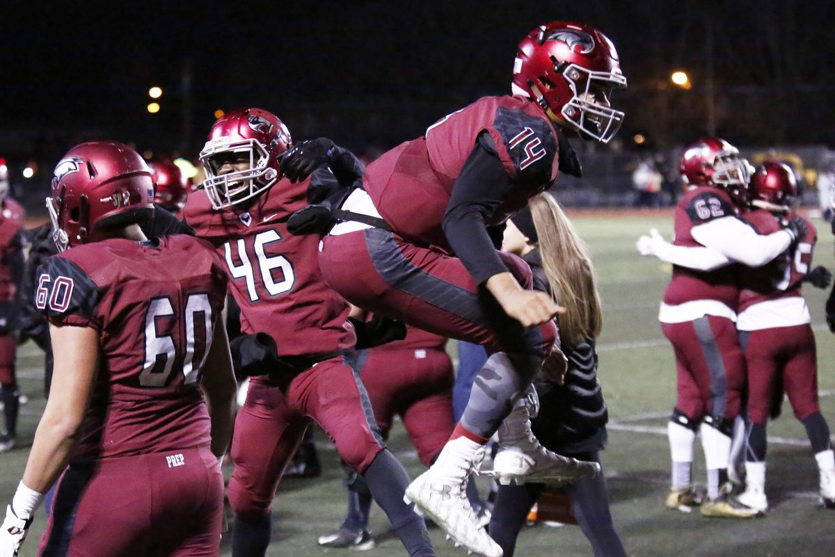 Quarterback Marquez McCray (14) and St. Joseph's Prep will take on District 11's Parkland in a PIAA Class 6A quarterfinal at 1 p.m. Saturday in Bethlehem.