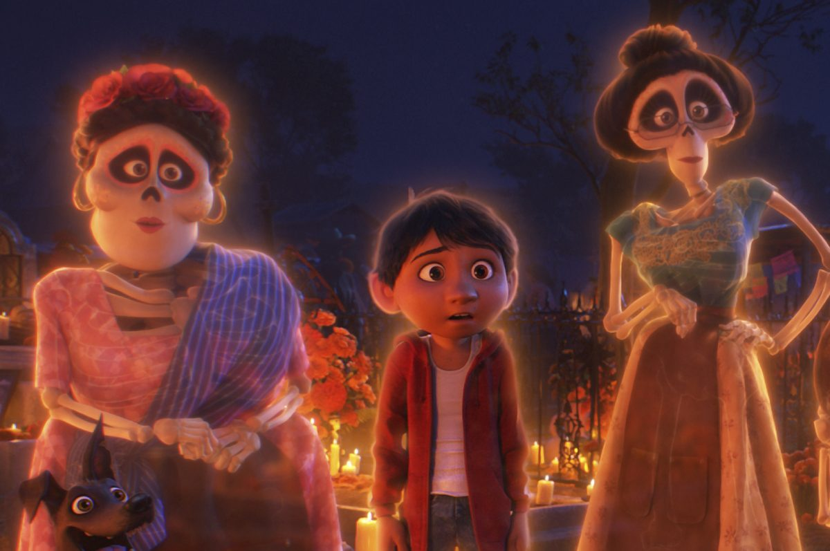A living boy visits the land of the dead in Pixar's animated movie 'Coco.'