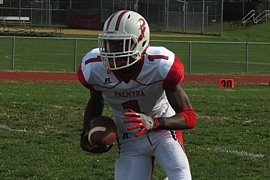 Palmyra´s Taj Harris has excelled at quarterback and receiver during his high school career.