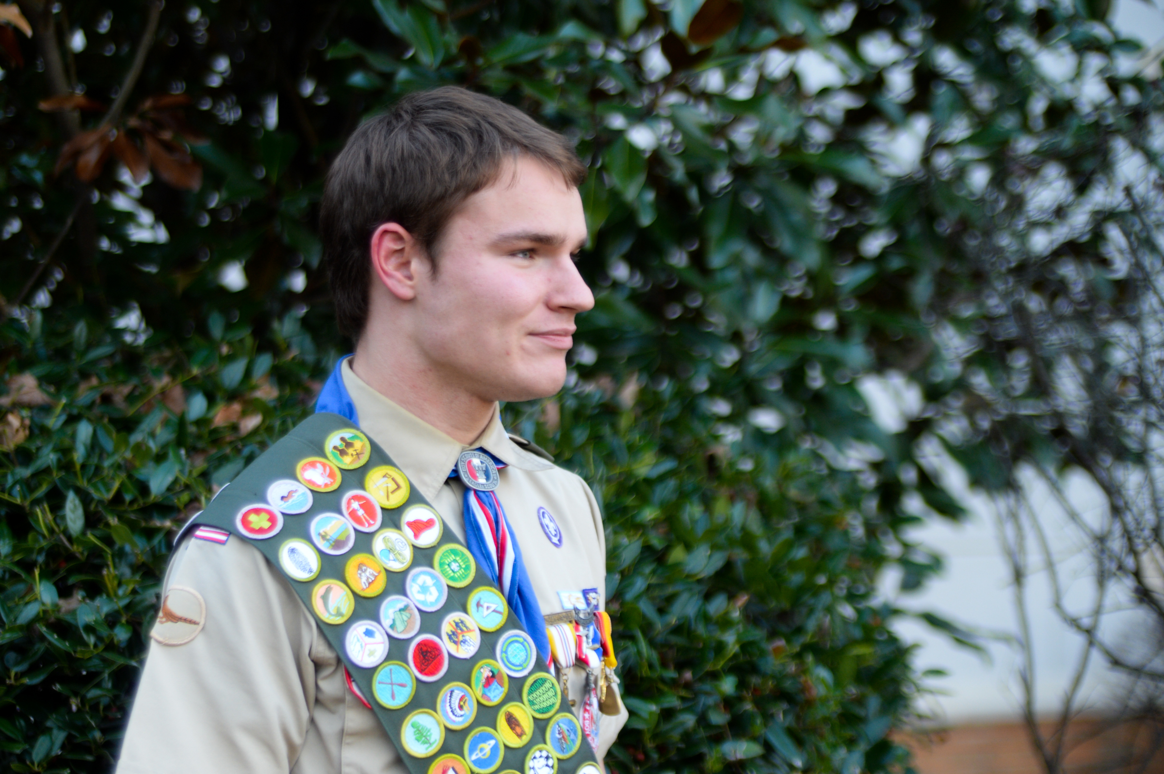 Zachary Rotzal, 17, accomplished the rare feat of earning all 139 Eagle Scout merit badges. GENEVA HEFFERNAN / Staff Photographer
