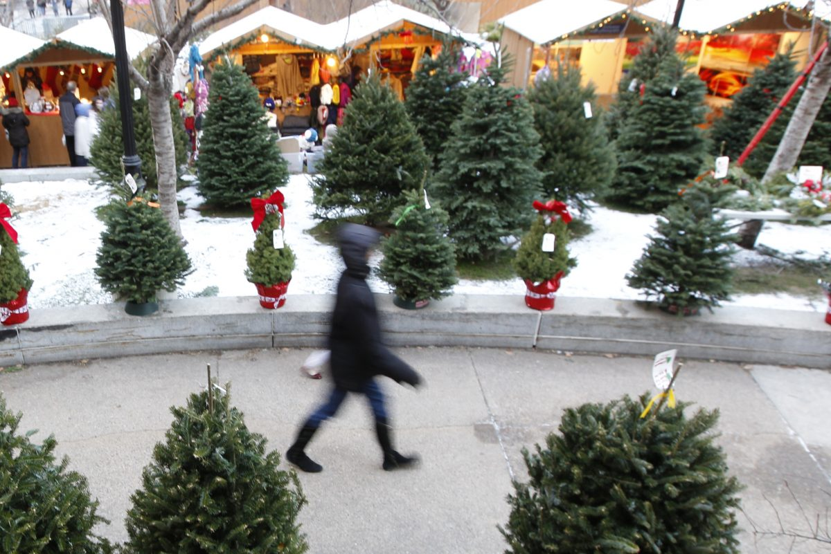 This photo from 2013 shows the old Christmas Village at LOVE Park. It was relocated to City Hall in 2016 as the park was under construction. But it's coming back to LOVE Park Thanksgiving Day. 12/18/2013 ( MICHAEL BRYANT / Staff Photographer )