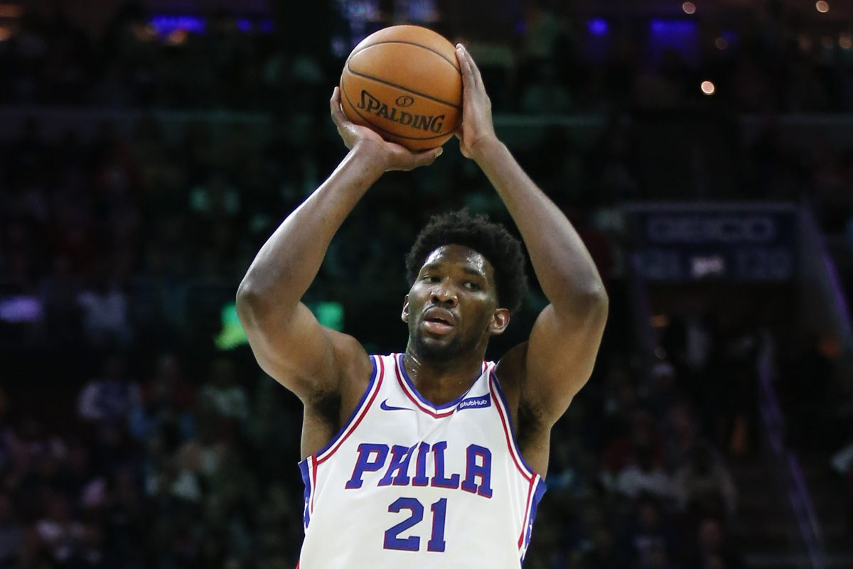 Sixers center Joel Embiid is listed as questionable for the Jazz game.