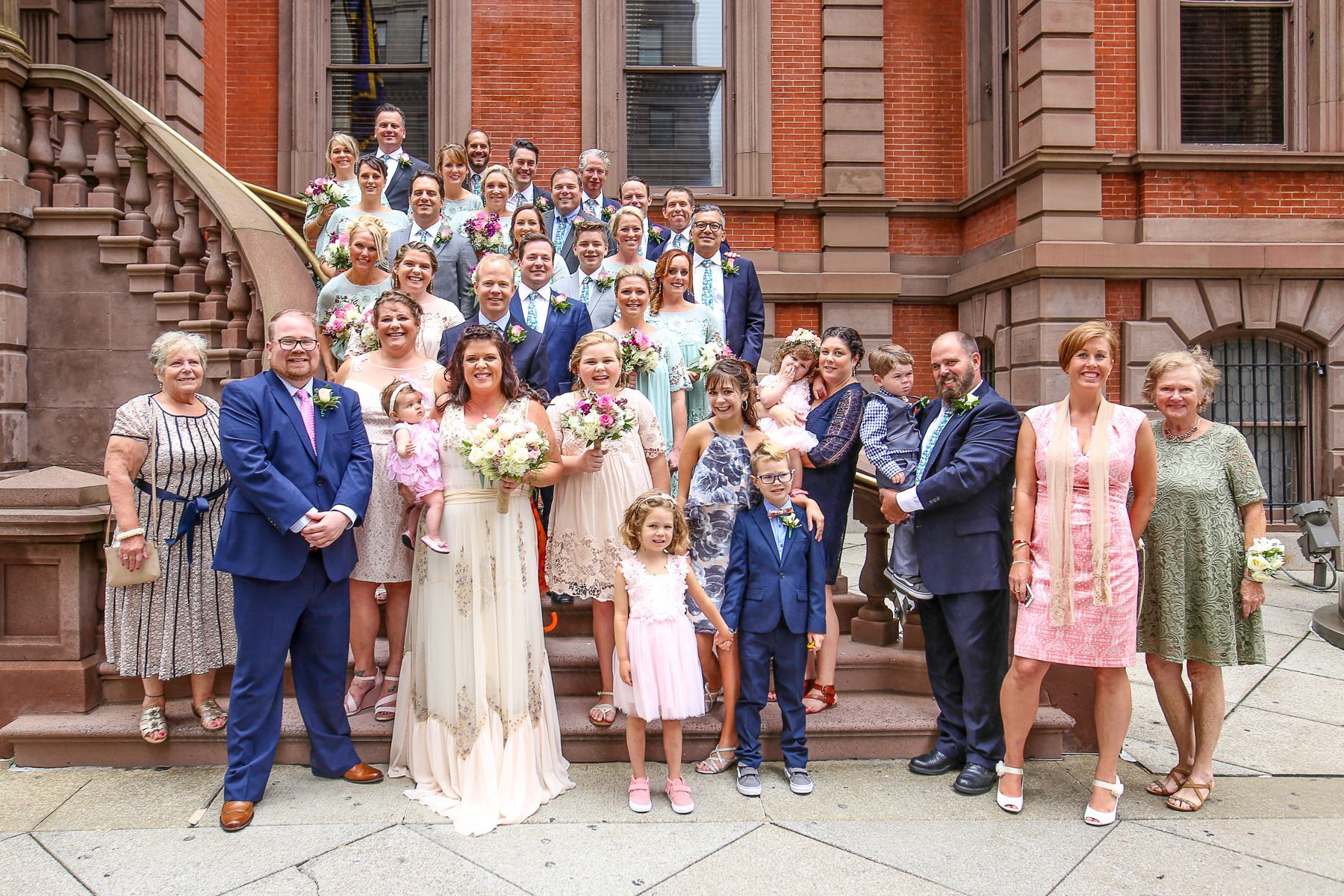 Gabrielle Gock and Chris Rubery and their wedding party.