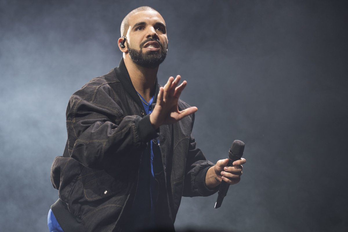 In this Oct. 8, 2016 file photo, Drake performs on stage in Toronto, Canada.