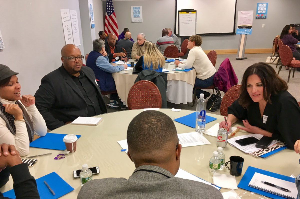 Residents of Camden, Burlington and Gloucester counties attended a workshop about how to improve and expand local news coverage in New Jersey last Thursday in Camden. The event was sponsored by Free Press, a national advocacy organization.