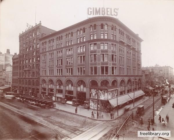Gimbel´s Department Store at Eighth and Market streets in Center City.