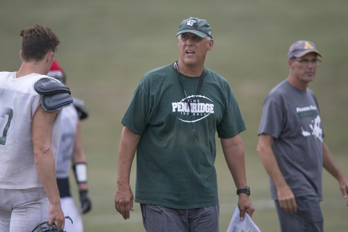Pennridge football coach Jeff Hollenbach.