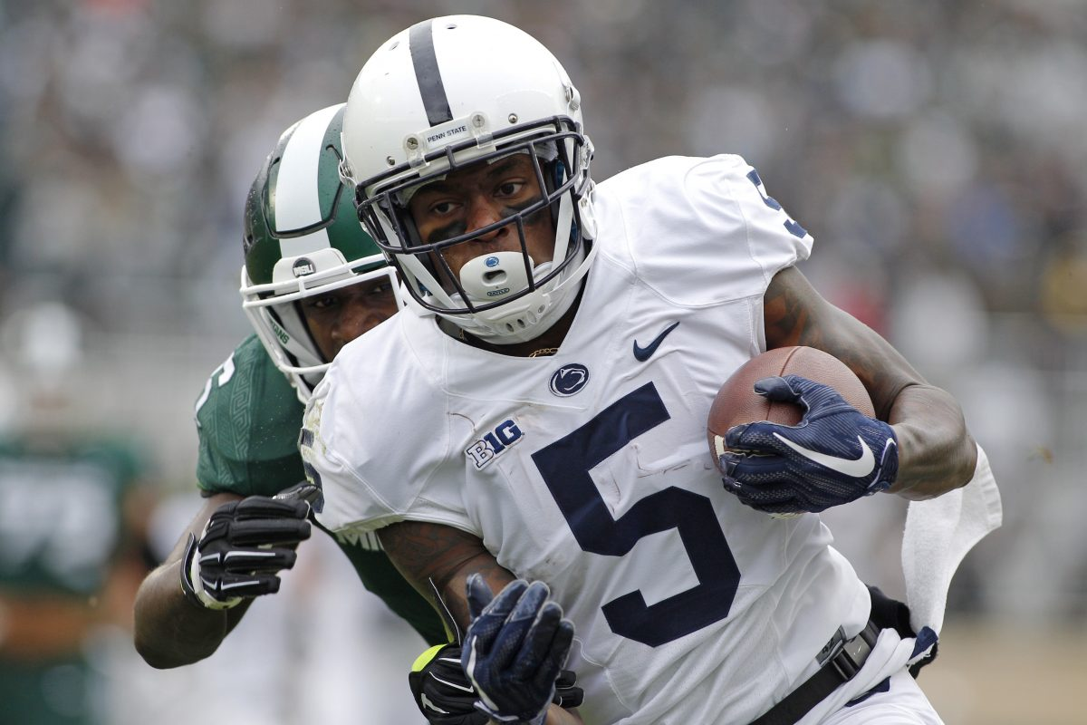 Wide receiver DaeSean Hamilton has  204 career receptions at Penn State.