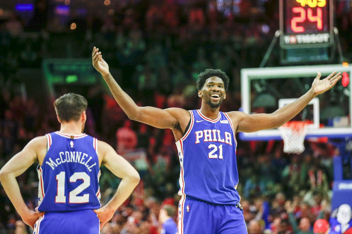 Philadelphia 76ers center Joel Embiid got Utah Jazz rookie guard Donovan Mitchell riled up during Monday´s game at the Wells Fargo Center.