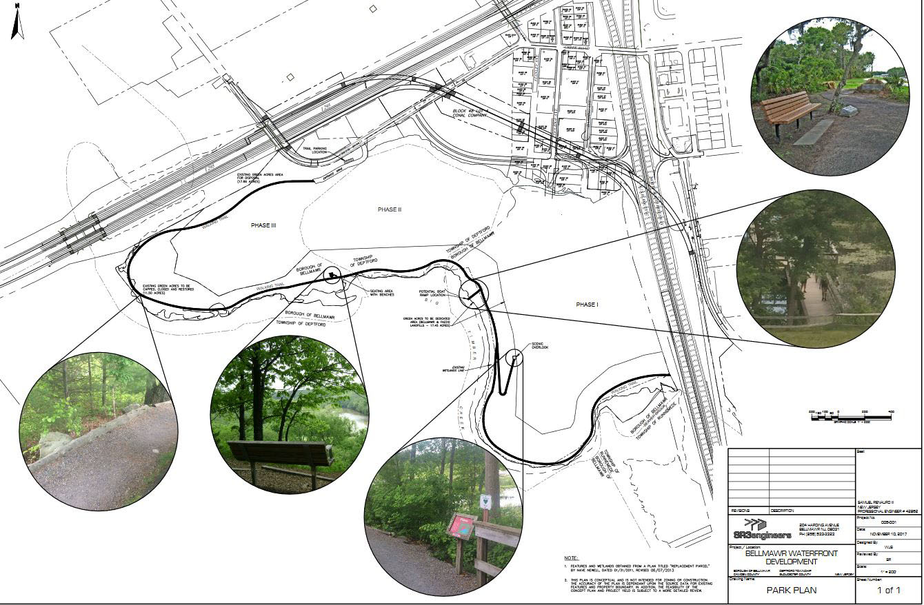 Rendering of proposed park at Bellmawr´s redevelopment site of landfill at Route 42 and I-295.