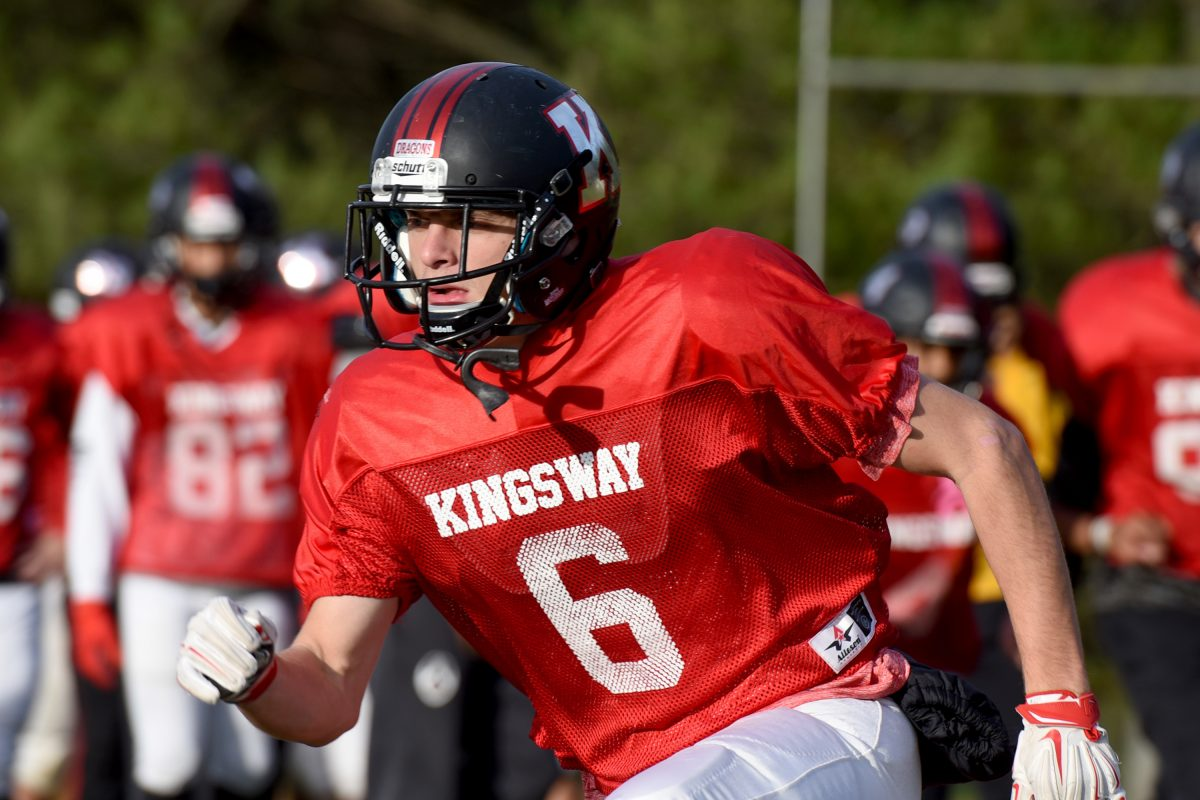 Kingsway senior Kevin Zehner has put together one of the best seasons by a wide receiver in program history.