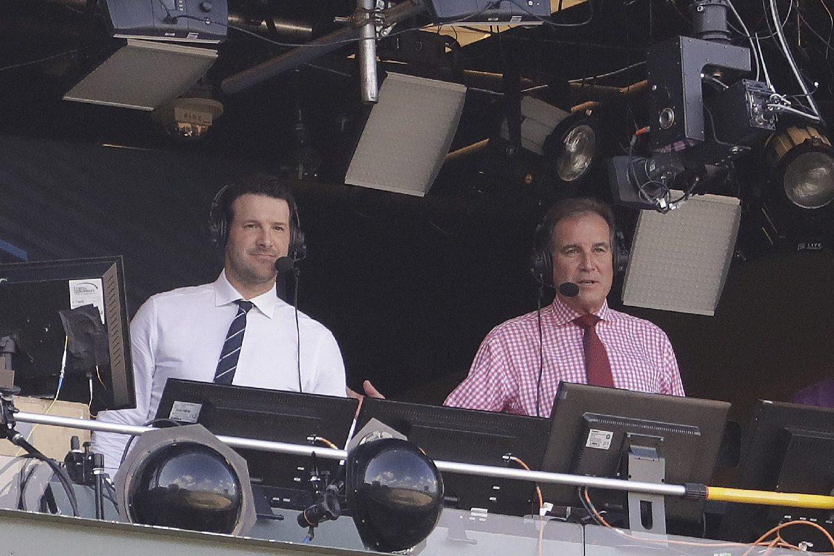 Former Cowboys quarterback Tony Romo and play-by-play announcer Jim Nantz will call the Cowboys' Thanksgiving Day game against the Chargers, but DISH customers won't be able to watch.