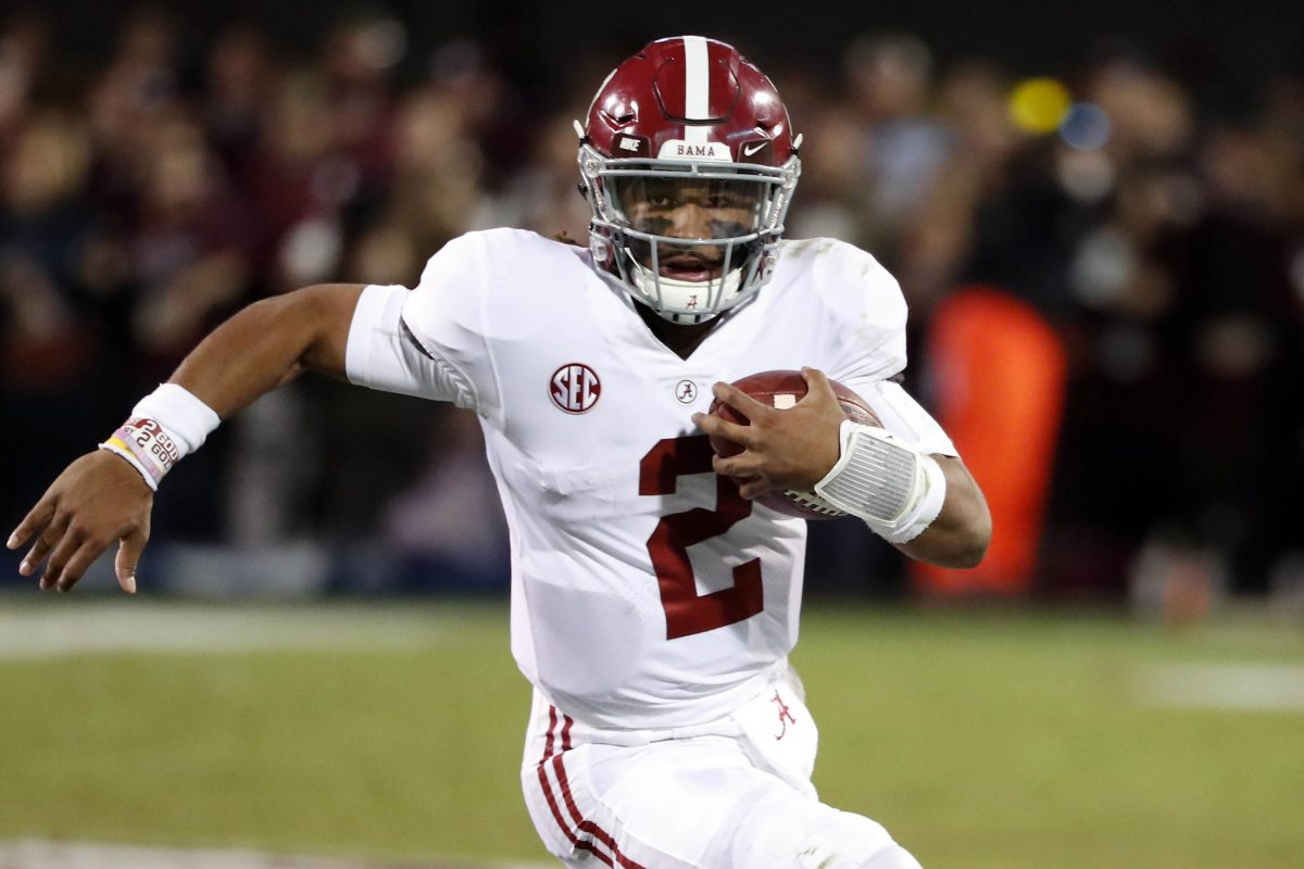 Quarterback Jalen Hurts and his Alabama teammates will renew their rivalry with Auburn this weekend.