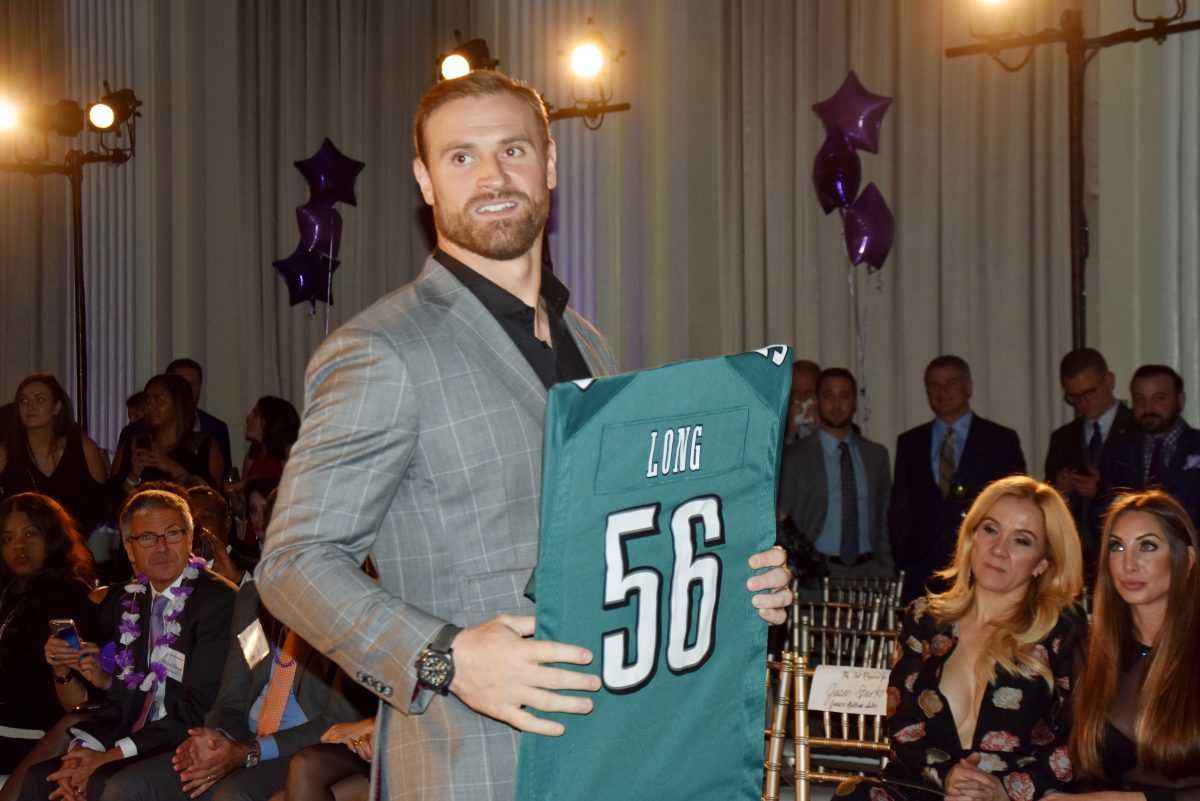 Chris Long at Fashion Touchdown 2017 benefitting the Big Brothers Big Sisters held on Monday, November 13,2017 at the Ballroom at the Ben in Philadelphia ,PA.