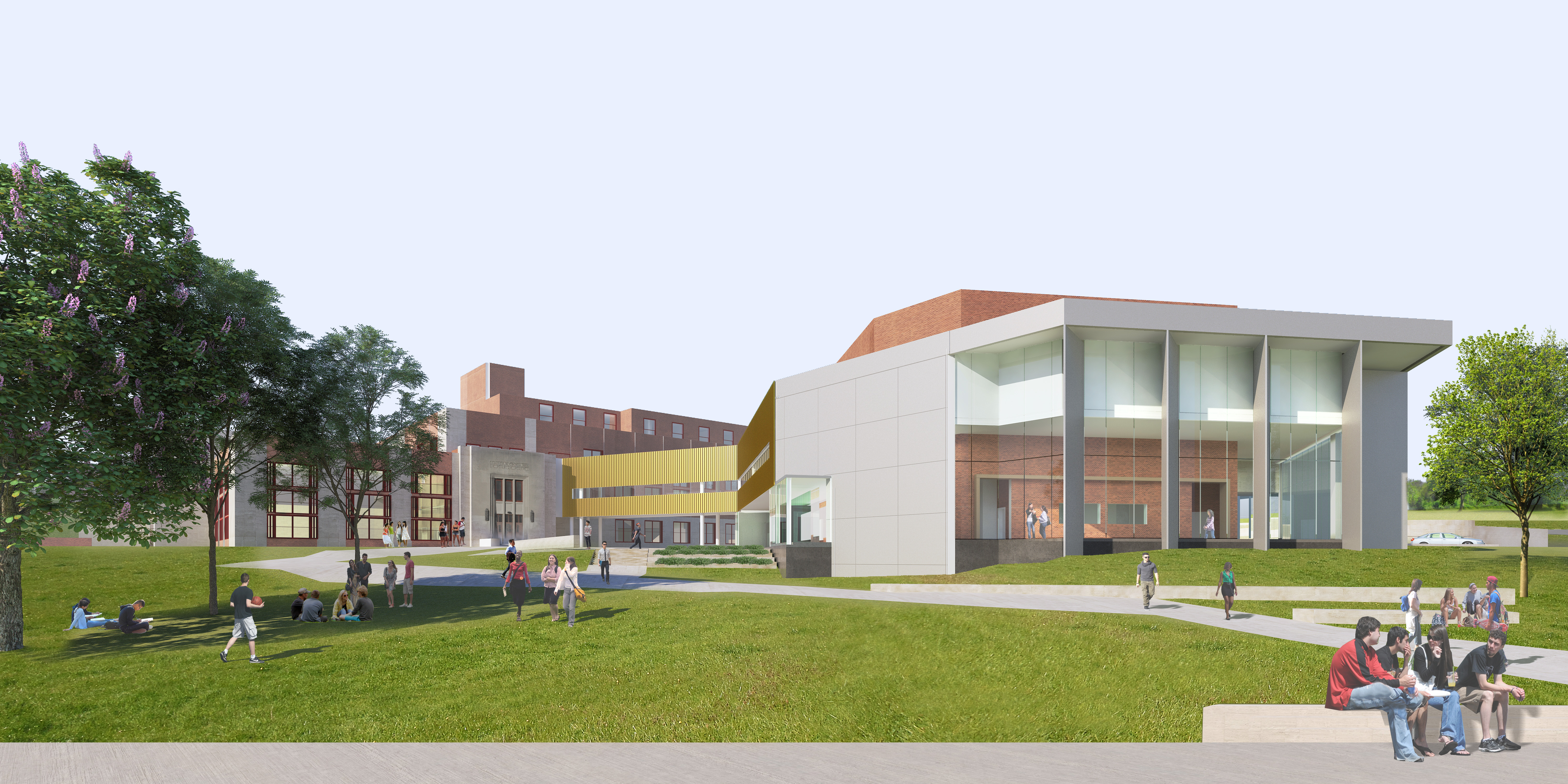 An artist´s rendering of a planned expansion to Philadelphia´s Central High School