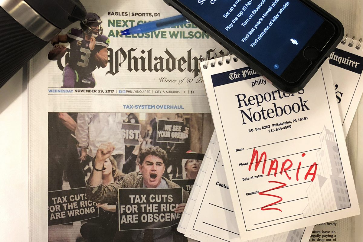 iPhone? Check. Notebook? Check. Outraged citizens? Check. Maria Panaritis is the new Pennsylvania columnist for The Inquirer, Daily News and philly.com.