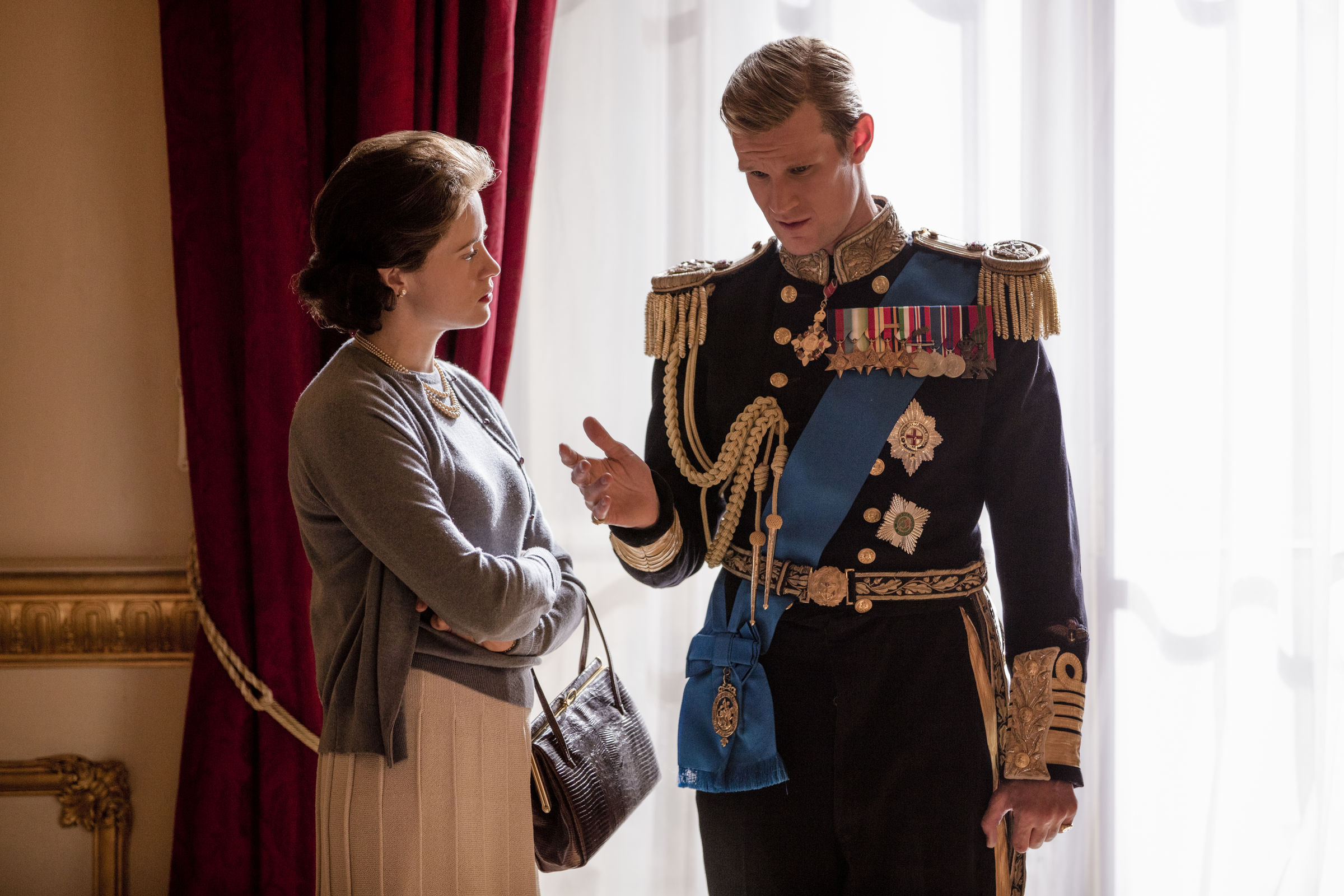 The Crown, Claire Foy and Matt Smith