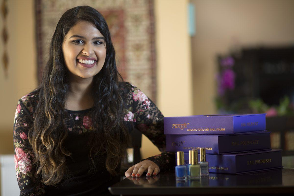 Neha Raman, who has developed a DIY nail-polish brand called Rungh.
