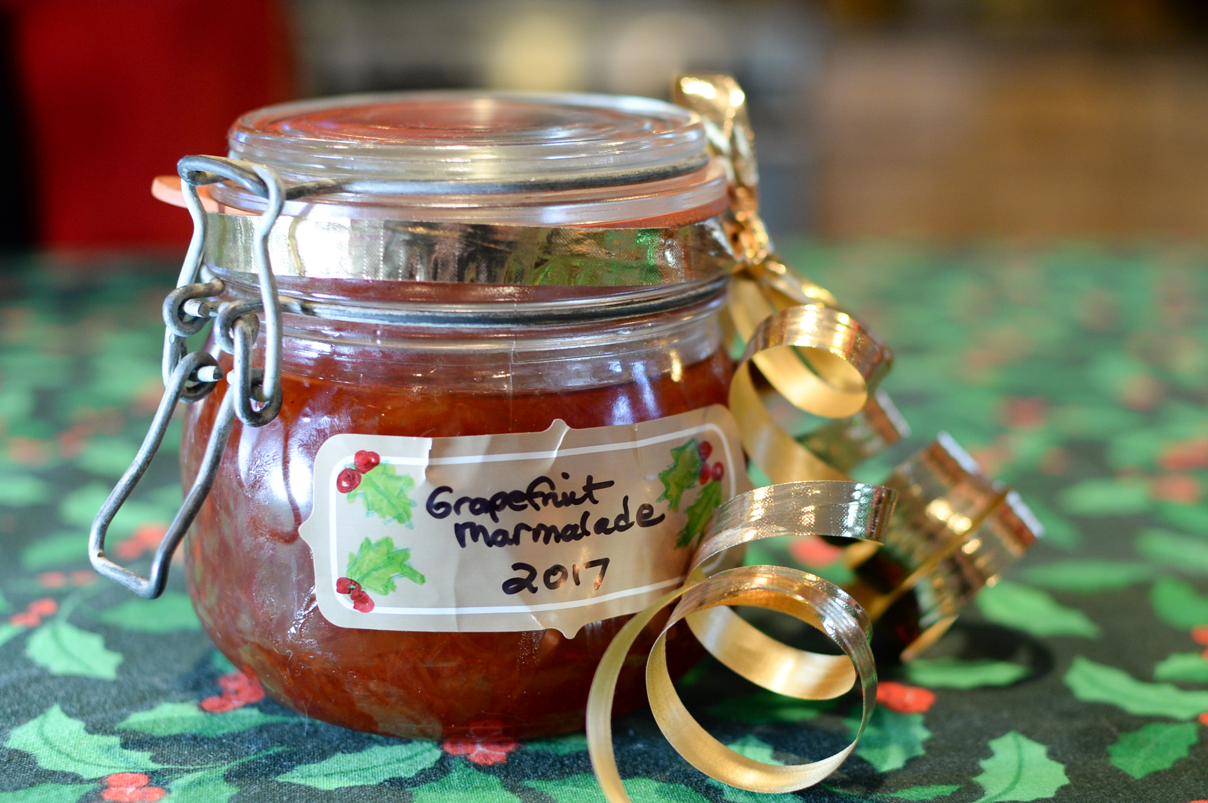 Grapefruit marmalade is a staple of the annual homemade food gifts.