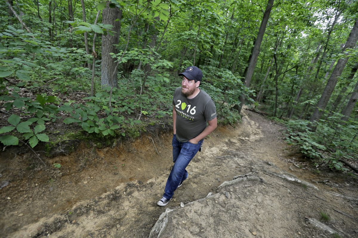 Mike McCormick of Barrington walks at Timber Creek Park in Gloucester Twp. McCormick loves to walk and hike all over in South Jersey and decided to put together a free online resource for those who also do: South Jersey Trails.