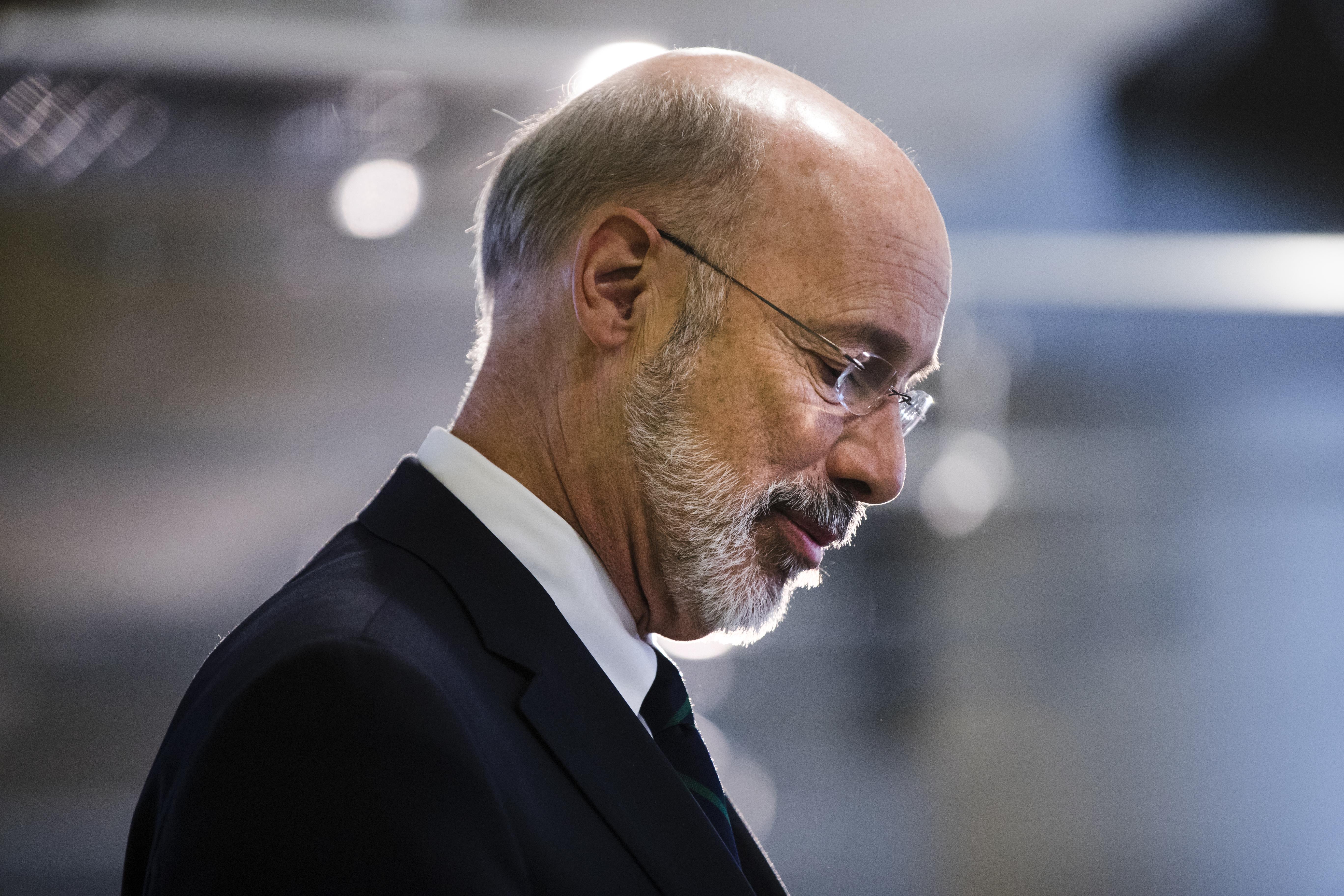 Pennsylvania Gov. Tom Wolf speaks at Drexel University in Philadelphia, Tuesday, Nov. 14, 2017. (AP Photo/Matt Rourke)