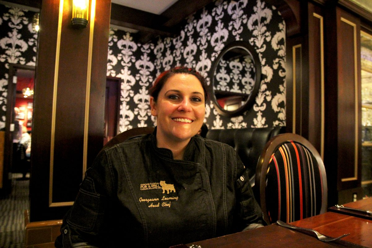 Georgeann Leaming is the new chef at Gordon Ramsay Pub & Grill at Caesars Atlantic City.