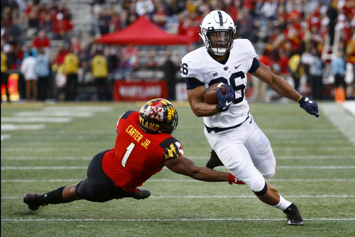 Penn State running back Saquon Barkley finished second in the nation in all-purpose yards, averaging 179.5  per game.