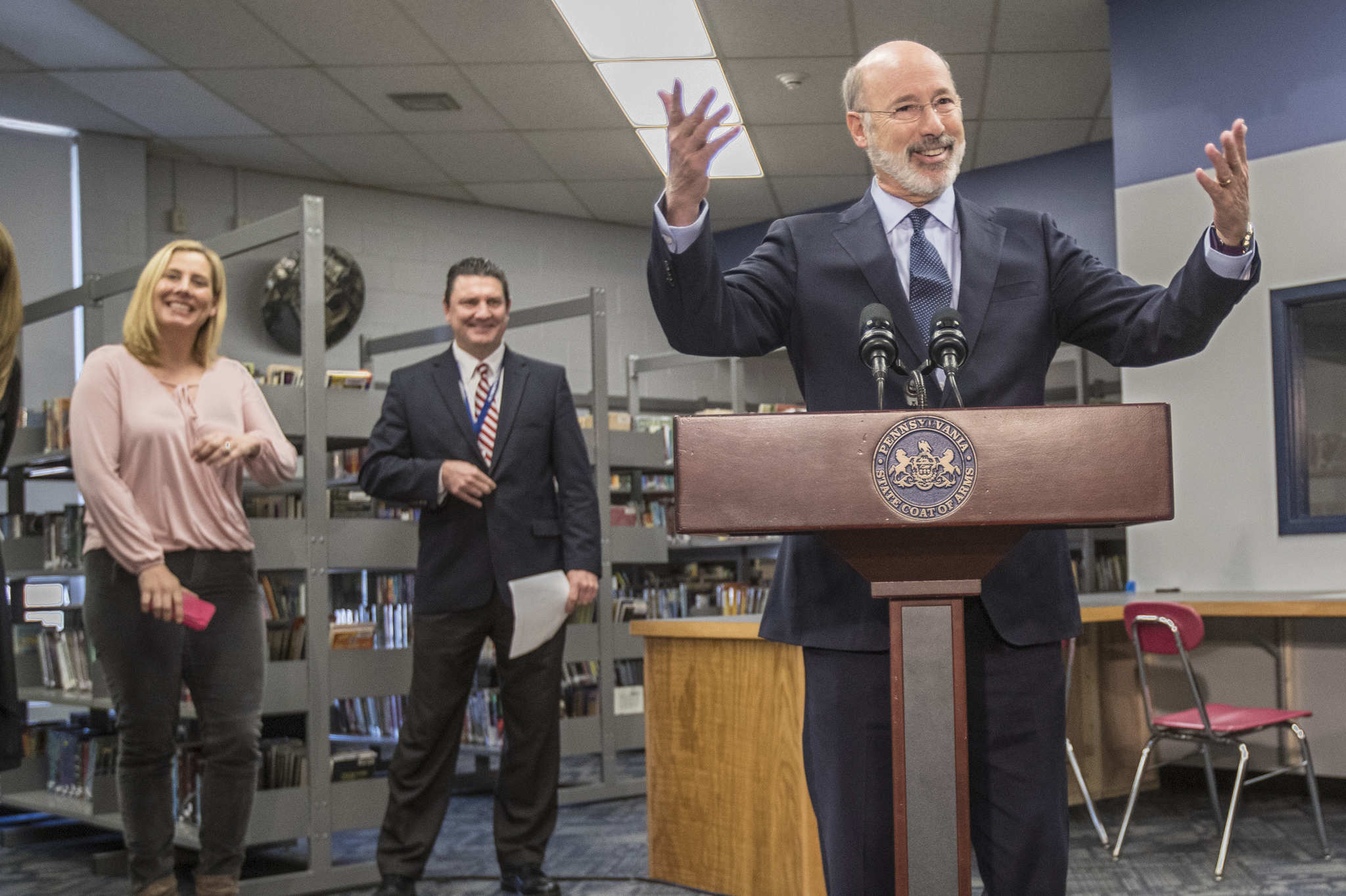 Pa. Gov. Wolf on Wednesday announced a shift in the time when state standardized tests would be administered to hundreds of thousands of children across Pennsylvania.