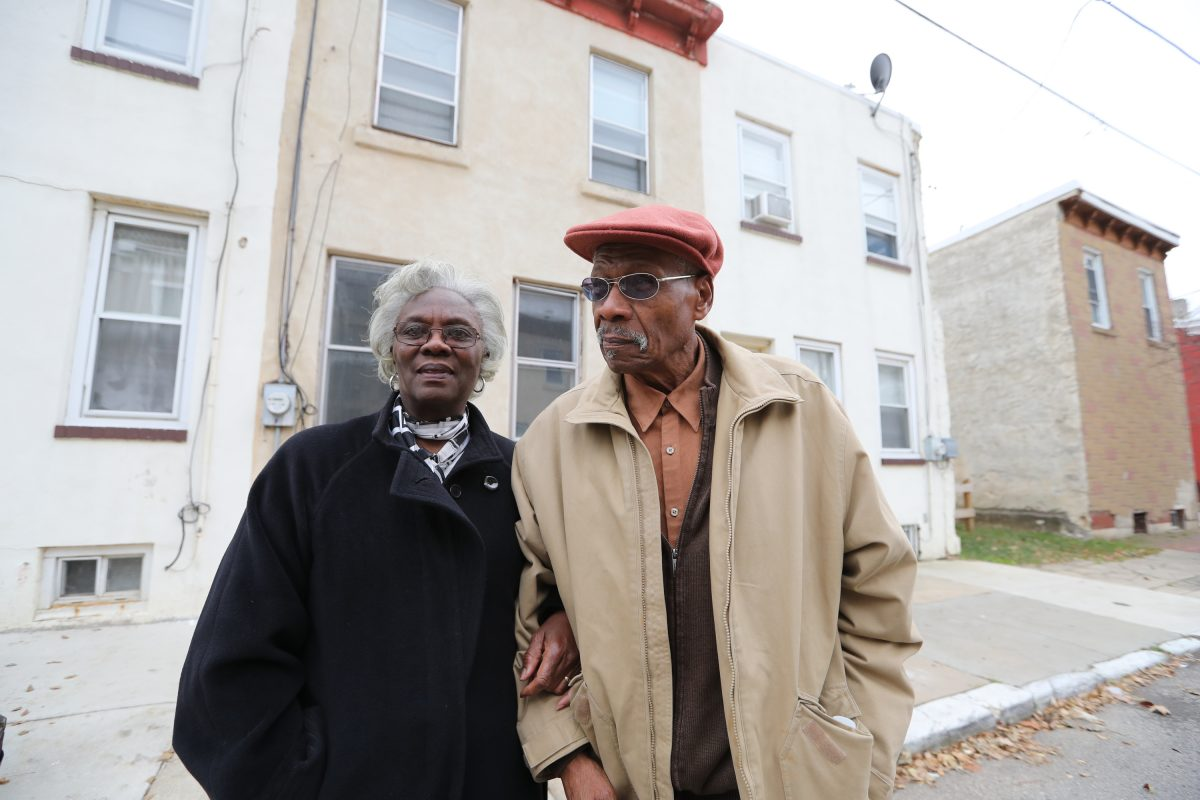 Arthur and Betsy Deleaver in front of their Sharswood house. The city housing authority has taken it by eminent domain for a massive revitalization project. DAVID SWANSON / Staff Photographer