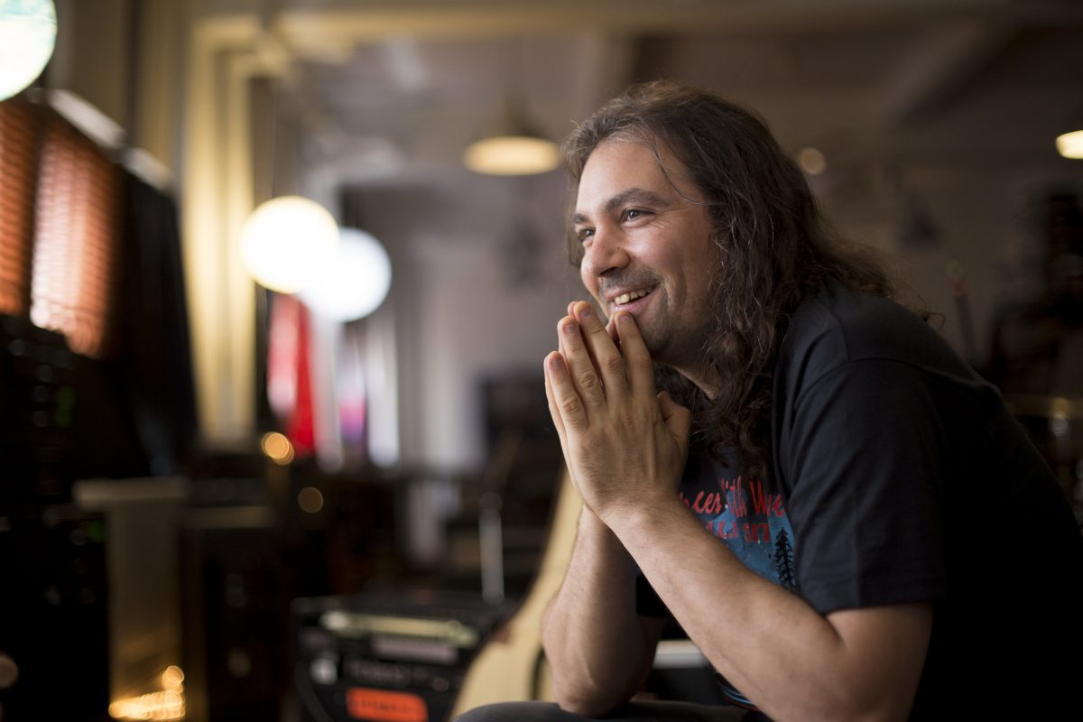 The War On Drugs' Adam Granduciel in the band's South Philadelphia rehearsal space. The band's 'A Deeper Understanding' is one of the best albums of the year.