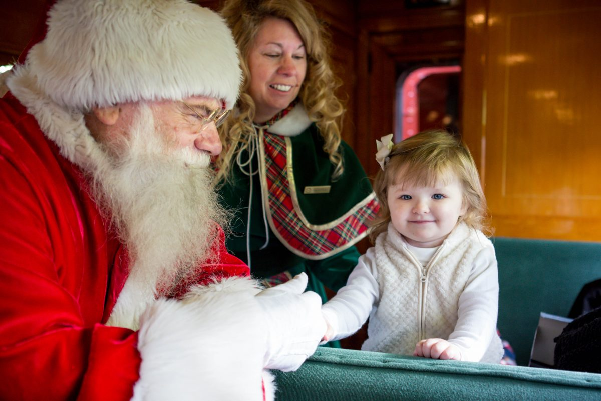 Strasburg Rail Road's Santa Paradise Express includes presents for the little ones.