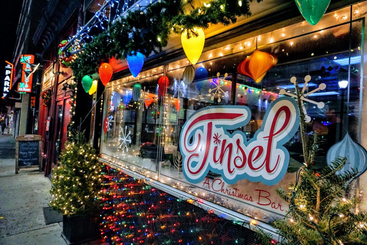 Tinsel Christmas Pop-up Bar, 116 S. 12th St.