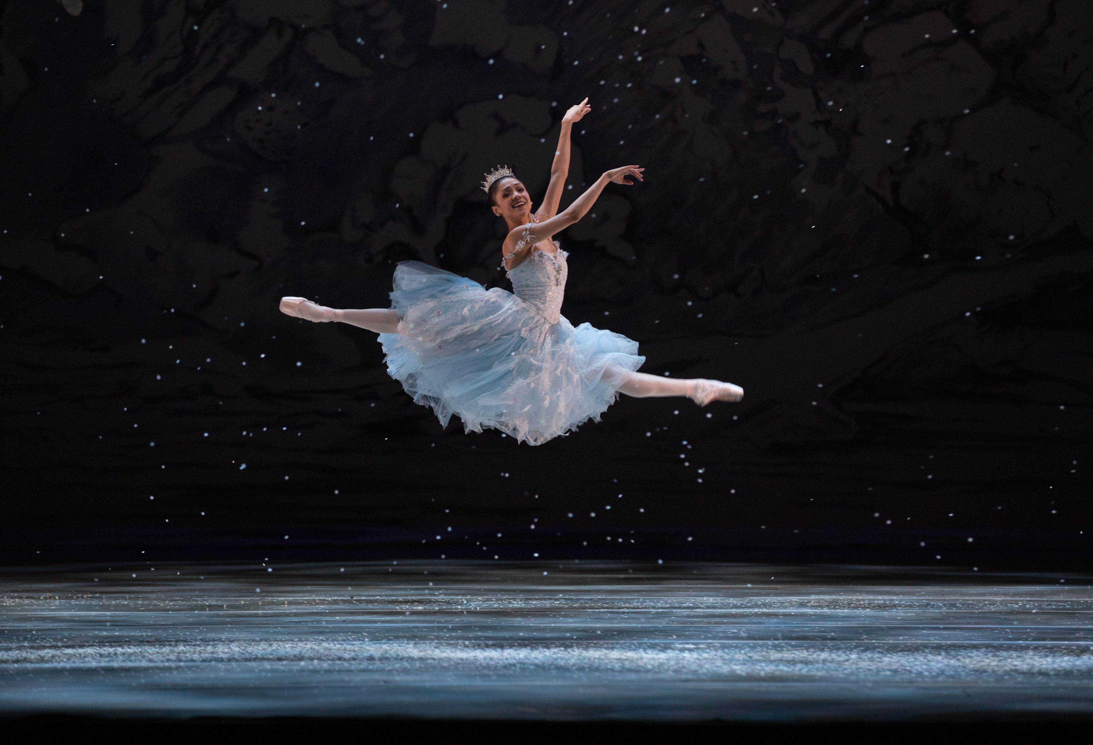 "Nayara Lopes is a snowflake in ""George Balanchine´s The Nutcracker."" (ROSALIE O´CONNOR)"