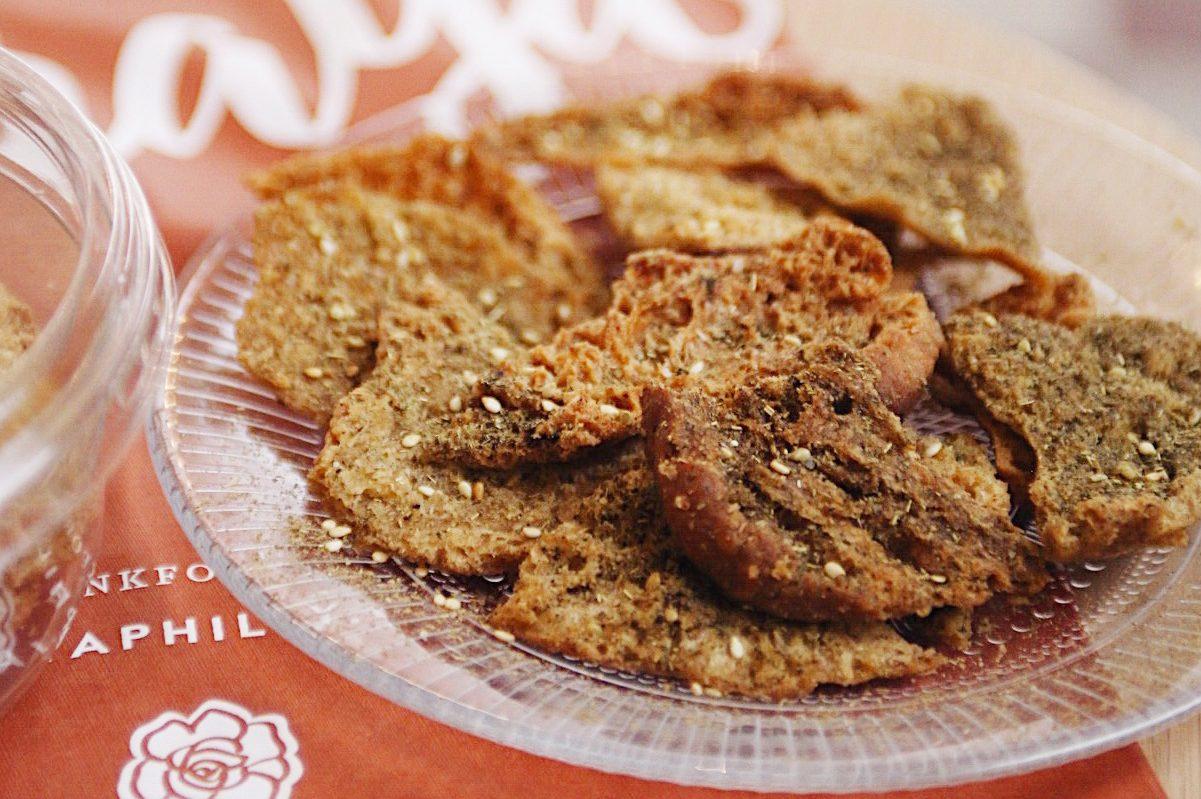 Za'atar pita chips at Suraya.