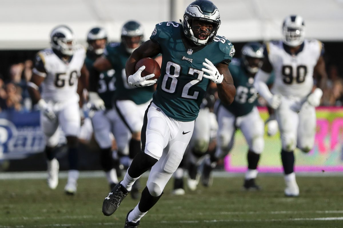 Wide receiver Torrey Smith, who already has one Super Bowl ring, knows the road to another would be much easier if the Eagles can get homefield advantage throughout the NFC playoffs. YONG KIM / Staff Photographer