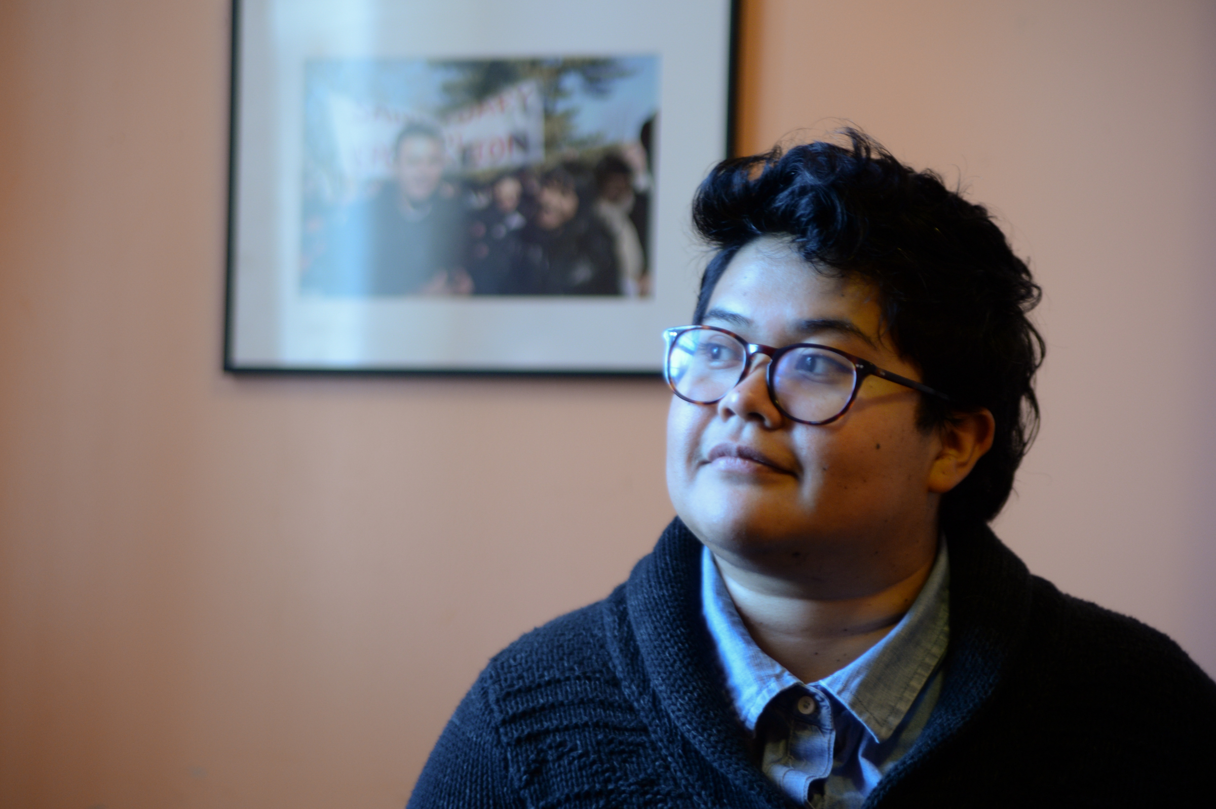 Jazmín Delgado of the New Sanctuary Movement of Philadelphia has experienced an increased work load over the past year as ICE arrests have increased.