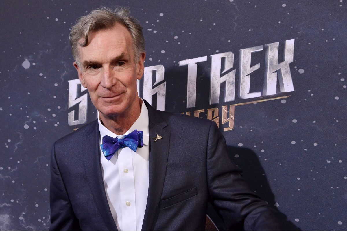 "Bill Nye arrives at the ""Star Trek: Discovery"" Premiere held at the ArcLight Cinerama Dome on Sept. 19, 2017 in Hollywood, Calif. He's the subject of a new documentary opening in theaters Dec. 15"