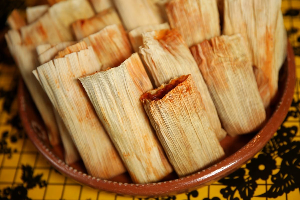 Chicken tamales at El Rey.
