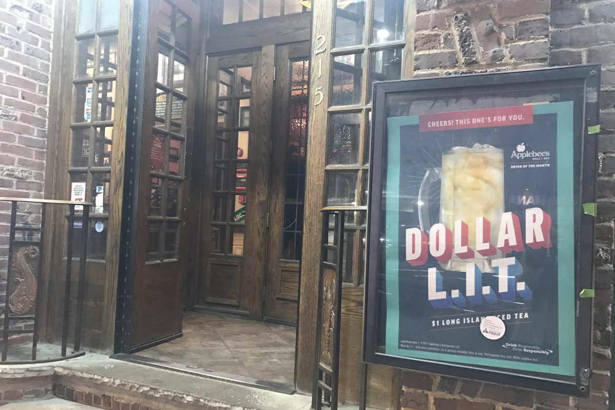 Applebee's at 15th and Walnut streets in Center City is promoting a Dollar L.I.T. special on Long Island Iced Teas for December.